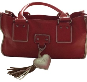 Roberta Satchel in Coral/ Red