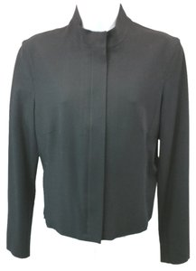 Tahari Stretchy Wool Jacket Petite BLACK Blazer
