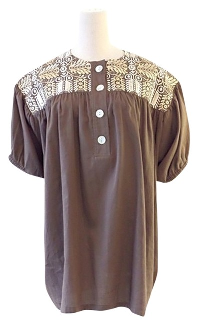 Preload https://img-static.tradesy.com/item/9891784/paul-and-joe-brown-mazette-embroidery-blouse-size-8-m-0-1-650-650.jpg