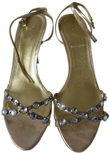 J.Crew Strappy Formal Crystal Pale Gold Sandals