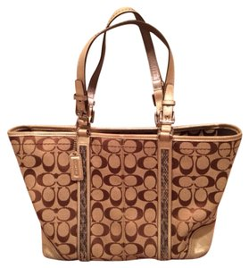Coach Tote in Brown/gold