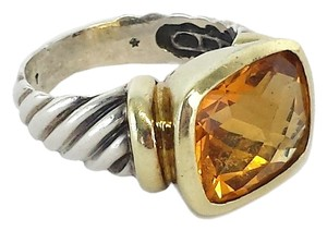 David Yurman Silver & Gold Citrine Ring