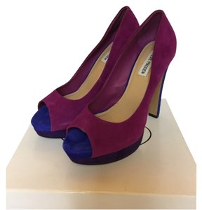 Steve Madden Purple, Fushia, and blue Platforms