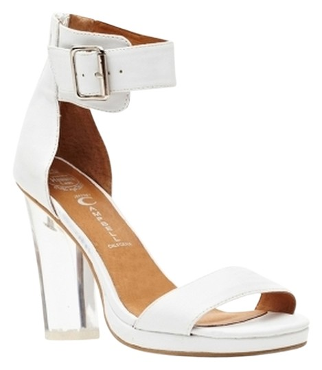 Jeffrey Campbell Soiree 8 Clear Hill white Sandals