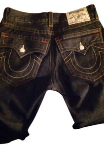 True Religion Straight Pants dark blue denim