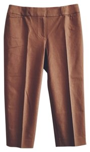 Ann Taylor LOFT Cotton Stretch Capri/Cropped Pants Camel