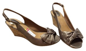 Clarks Bronze Wedges