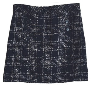 Ann Taylor LOFT A-line Tweed Skirt Black, Beige