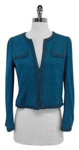 Rebecca Taylor Teal Tweed Jacket