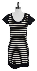 French Connection short dress Black White Striped Bodycon on Tradesy