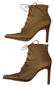 Baker Ankle Vintage Leather Tan Stiletto Heel Boots