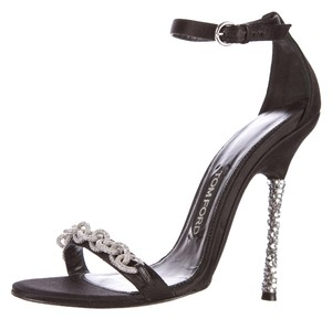 Tom Ford Ava Crystal Satin Black Pumps