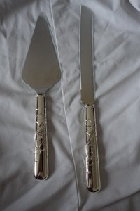 Martha Stewart Silver Trousseau Cake and Knife