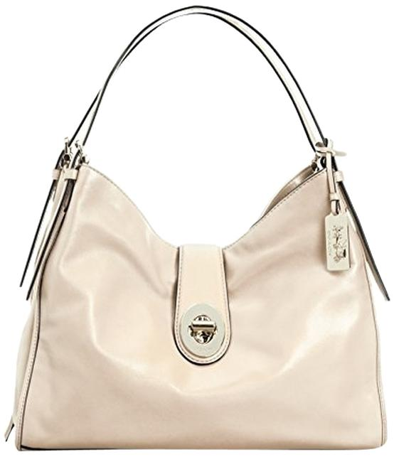 Item - Carlyle 32221 Madison In Gold Milk White Leather Shoulder Bag