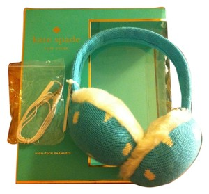 Kate Spade Kate Spade BRAND NEW WITH TAGS IN BOX Blue w/White Dot's Headphone Earmuff's VERY RARE!They Have BUILT IN SPEAKERS W/Headphone Wires INCLUDED,Use As BLUETOOTH As Well.. Can Be Worn As Earmuffs Alone Too Retail On Box $88