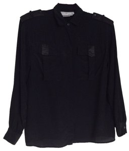 Courtney Rhodes Button Down Shirt Black