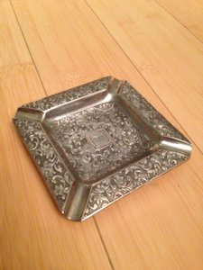 Vintage Silver-plated Ornate Ashtray