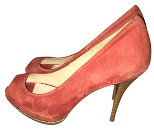 Zara Stilleto Red suede Platforms