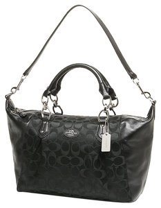 Coach Madison Leather 33806 F33806 Leathermadison Chain Pink 33804 F33804 Satchel in Black