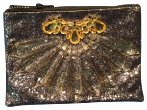 Natasha Couture Gold Clutch