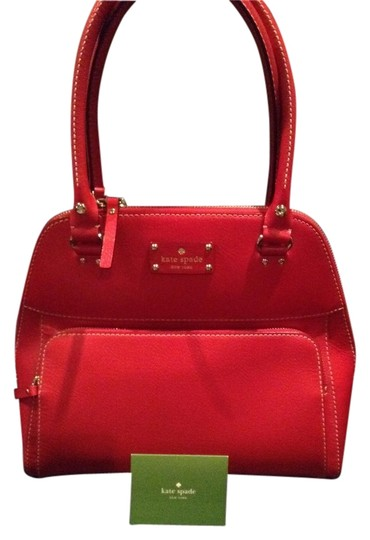 Kate Spade Leather Satchel in Red
