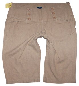 Stoosh Bermuda Linen Rayon Dress Shorts tan