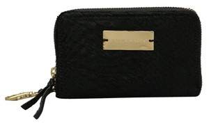 Twelfth St. by Cynthia Vincent Cynthia Vincent Black Calf Hair Reptile Embossed Zip Wallet