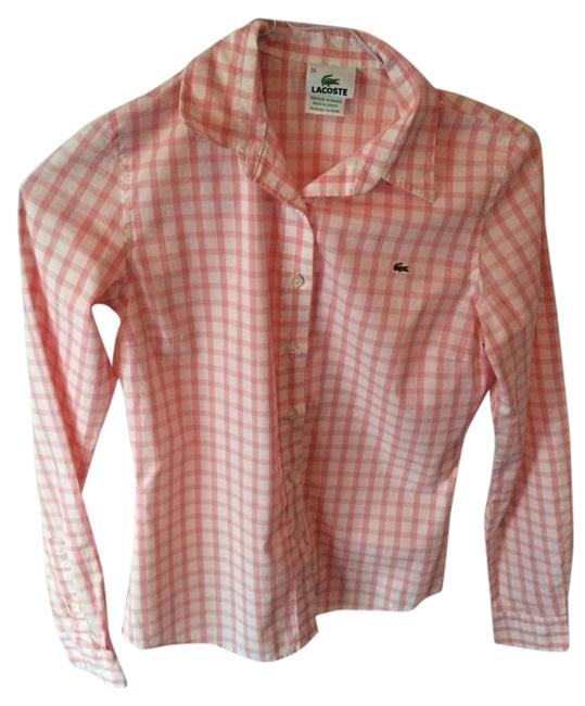 Preload https://img-static.tradesy.com/item/989763/lacoste-pink-and-white-checkered-button-down-top-size-2-xs-0-0-650-650.jpg