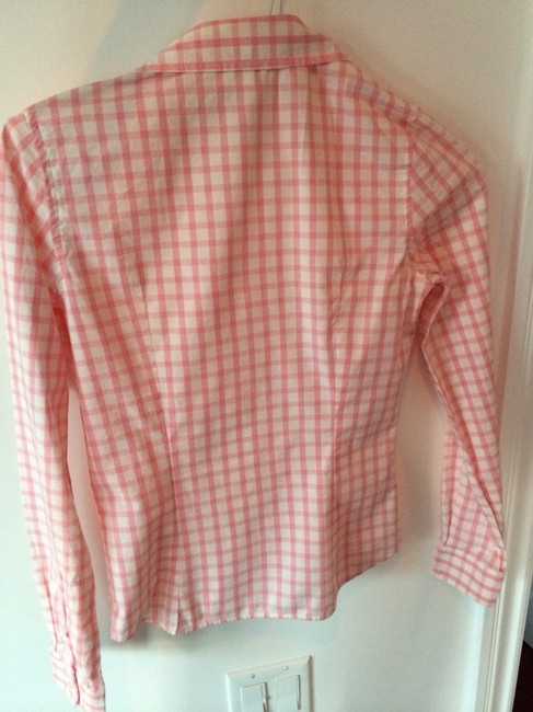 Lacoste Button Down Shirt Pink And White