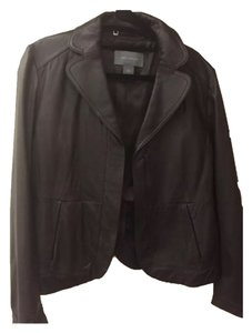 Ann Taylor LOFT Brown Leather Jacket