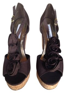 Steve Madden Platform Sandal Brown Wedges