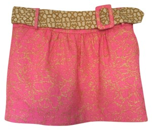 An Original Milly of New York Mini Skirt Pink and Gold