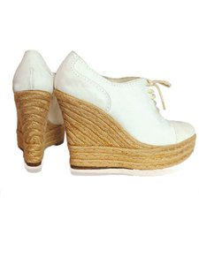 Ralph Lauren Sneakers Stylish Designer white Wedges