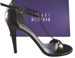 Stuart Weitzman Heel Pump Evening Strappy Black Sandals