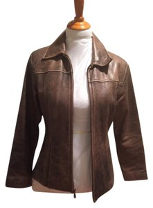 Wilsons Leather Brown Vintage Leather Jacket