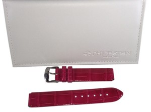 Philip Stein Pink Alligator Strap, 18mm