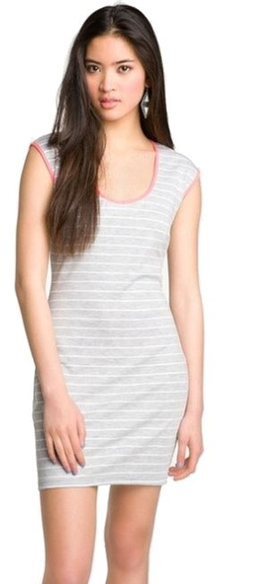 Mimi Chica short dress Grey and White Striped Keyhole Juniors Small on Tradesy