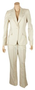 Gucci Gucci Cream Cotton Pant Suit, Size 42 (64004)