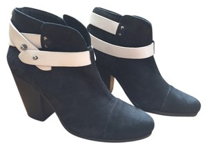Rag & Bone Color-blocking Suede Leather Ankle Black and White Boots