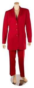 Dolce&Gabbana Dolce & Gabbana Red Wool Pant Suit, Size 44 (62244)