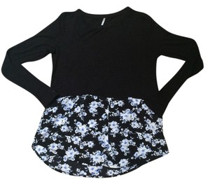 Tresics Color Sweater Sweaters T Shirt Black floral
