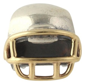PANDORA NEW Pandora Football Helmet Charm - Sterling Silver 14k Yellow Gold Bead 790570