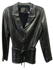 Jitrois Leather Black Blazer
