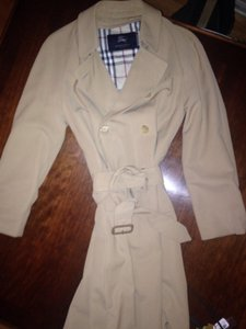 Burberry Classic Double Breasted Epaulettes Beltlong Trench Coat