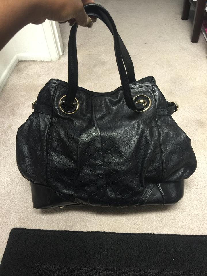 8f2e35637f9b7d Gucci Full Moon Guccissima Black Genuine Leather Tote - Tradesy