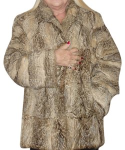 GEOFFREY FUR COAT Red Fox Real Fox Blue Fox Fox Mink Fox Jacket Fur Coat
