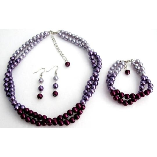 Preload https://item1.tradesy.com/images/lightdark-purple-combo-colors-plum-lilac-match-with-your-dress-complete-jewelry-set-990120-0-0.jpg?width=440&height=440