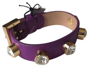Juicy Couture Juicy Couture YJRU7131 Purple Leather Studs Stones Bracelet