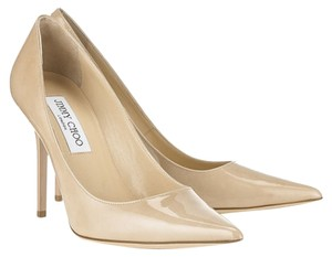 Jimmy Choo Abel Patent Leather Nude Pumps