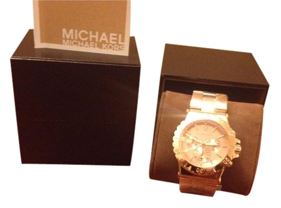 4c98ac91f94a Michael Kors Rose Gold Reduced Price Dylan Chronograph Mk5314 Watch ...
